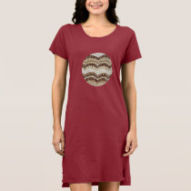 Beige Mosaic Women's T-Shirt Dress