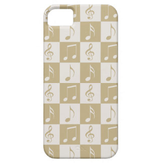 Beige Musical Checker Pattern iPhone SE/5/5s Case
