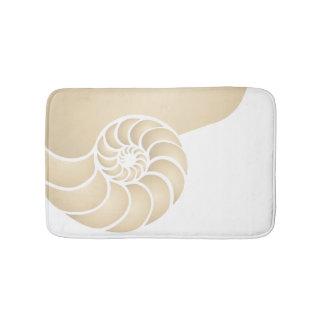 Beige Nautilus Nautical Seaside Bathroom Mat