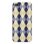 Beige Navy Argyle pattern iPhone case Cases For iPhone 5
