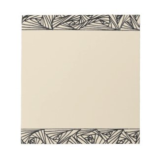 Beige Notepad with Black Lined Borders