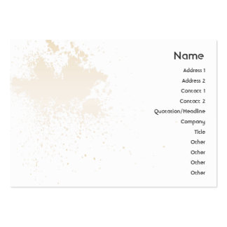 Beige On White Splatter - Chubby Large Business Cards (Pack Of 100)