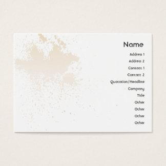 Beige On White Splatter - Chubby Business Card