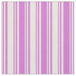[ Thumbnail: Beige & Orchid Lined Pattern Fabric ]