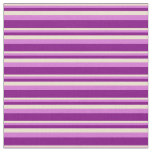 [ Thumbnail: Beige, Orchid & Purple Stripes Fabric ]