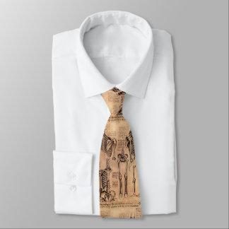 Beige ortopédico del lazo de los huesos de da corbata personalizada