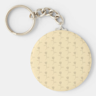 Beige pattern of roses. keychains