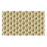 Beige Pattern with Skulls. Double-Sided Standard Business Cards (Pack Of 100)