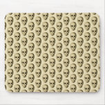 Beige Pattern with Skulls. Mouse Pad
