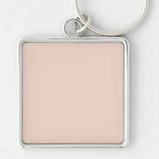 Beige Peach Pink Color Trend Blank Template Keychains