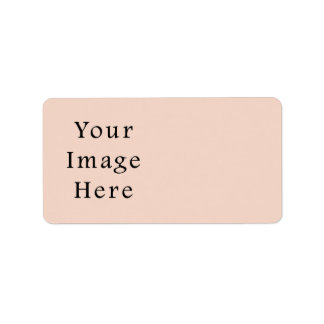 Beige Peach Pink Color Trend Blank Template Label