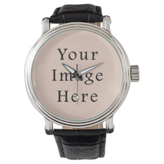 Beige Peach Pink Color Trend Blank Template Watches