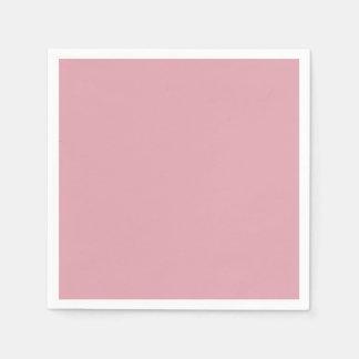 Beige Pink Dusty Antique Rose Color Background Napkin
