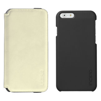 Beige poner crema funda billetera para iPhone 6 watson