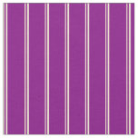 [ Thumbnail: Beige & Purple Colored Lines Pattern Fabric ]