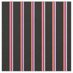 [ Thumbnail: Beige, Purple, Coral & Black Lines Fabric ]