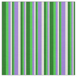 [ Thumbnail: Beige, Purple, Lime Green, and Dark Green Lines Fabric ]