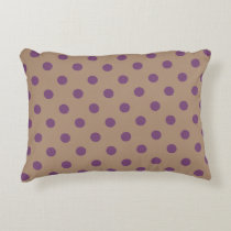 Beige/Purple Polka Dot Accent Pillow
