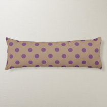 Beige/Purple Polka Dot Body Pillow