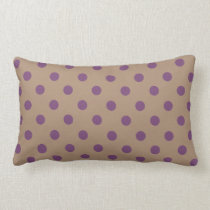 Beige/Purple Polka Dot Lumbar Pillow