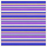 [ Thumbnail: Beige, Purple, Tan, and Blue Colored Lines Fabric ]