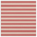 [ Thumbnail: Beige & Red Striped/Lined Pattern Fabric ]