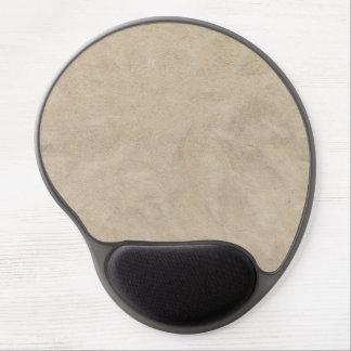Beige Retro Custom Suede Gel Mouse Pad