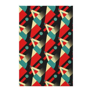 Beige rojo del trullo el pipe% negro geométrico impresiones en lona