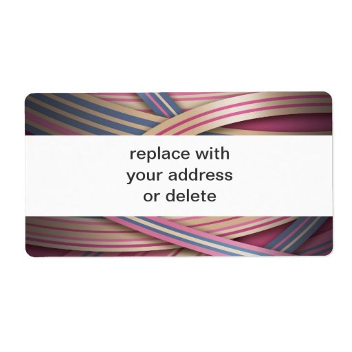 Beige Rose abstract lines Personalized Shipping Labels