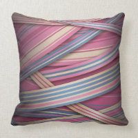 Beige Rose abstract lines Throw Pillow