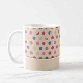 Beige Rose polkadot zazzle_mug