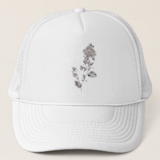 Beige rose trucker hat