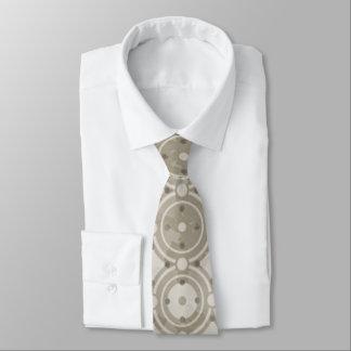 Beige Round Mosaic Tie
