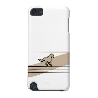 Beige Running Horse Design iPod Touch (5th Generation) Cover