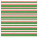 [ Thumbnail: Beige, Salmon, and Forest Green Colored Lines Fabric ]