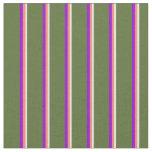 [ Thumbnail: Beige, Salmon, Dark Violet, and Dark Olive Green Fabric ]