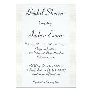 Beige Scalloped Chic Bridal Shower Invitation