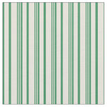 [ Thumbnail: Beige & Sea Green Colored Stripes Fabric ]