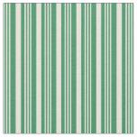 [ Thumbnail: Beige & Sea Green Stripes/Lines Pattern Fabric ]