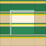 [ Thumbnail: Beige, Sea Green & Yellow Striped Pattern Fabric ]