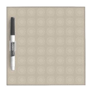 Beige Shadow Squares Dry Erase Board
