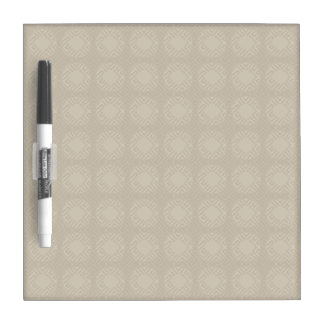 Beige Shadow Squares Dry Erase Board