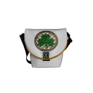 Beige Shamrock And Celtic Knots Mini Messenger Bag