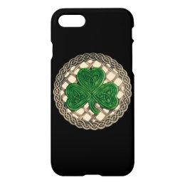 Beige Shamrock On Celtic Knots iPhone 7 Case