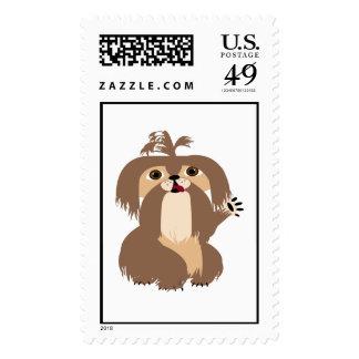 Beige Shih Tzu Stamps