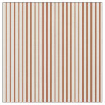 [ Thumbnail: Beige & Sienna Lines/Stripes Pattern Fabric ]