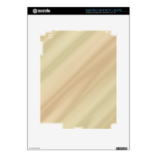 Beige simple decals for iPad 3