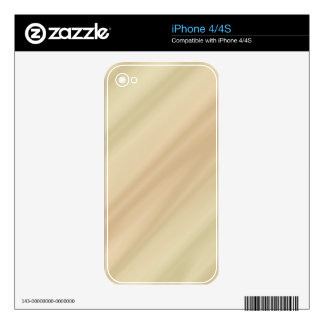 Beige simple decals for the iPhone 4S