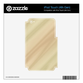 Beige simple iPod touch 4G decals