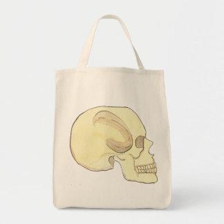 Beige Skull Grocery Tote